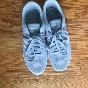 Ladies Light Gray Adidas Size 8